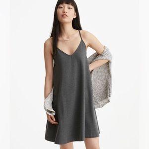 Lou & Grey LOFT Gray Jersey Swing Dress